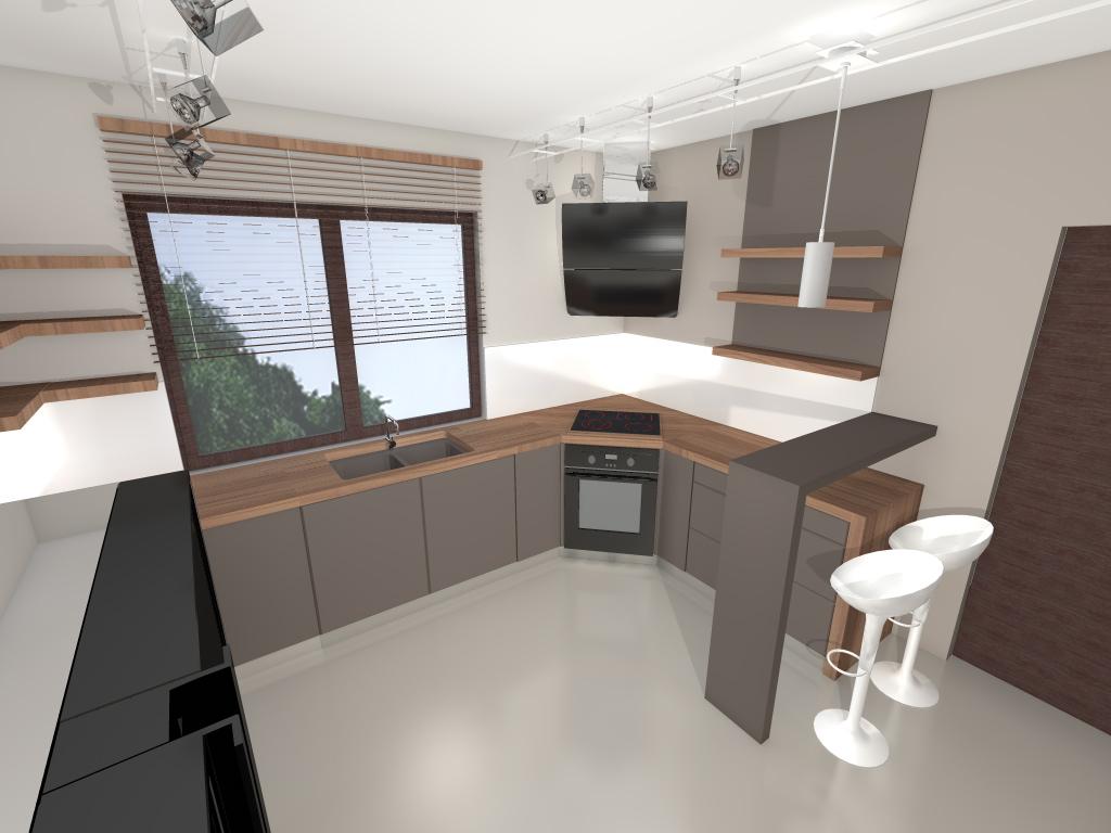 KODY Wnętrza  Kuchnie -> Projekt Kuchni Brw